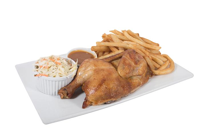 Assiette demi poulet